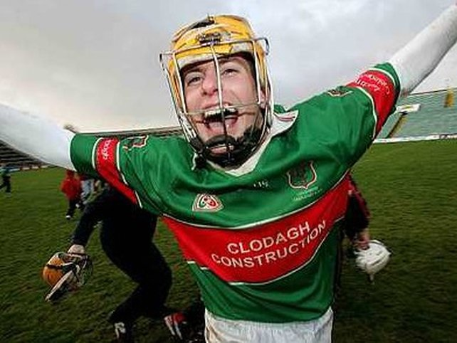 Evan Sweeney after Loughmore claimed the Munster club crown