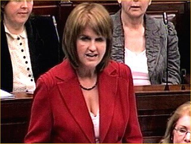 Joan Burton - Critical of Government