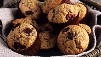 Christmas morning Cranberry Muffin - Muffins are a staple of American eating and are almost as popular here.