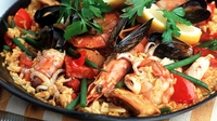 Paella - A quintessentially classic Spanish shellfish-based recipe