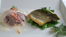 Sea Bass with Lobster Tail