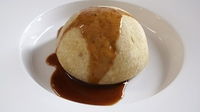 Oxtail and Kidney Pudding - One of Kevin Myers' main courses from the RTÉ series 'The Restaurant'.