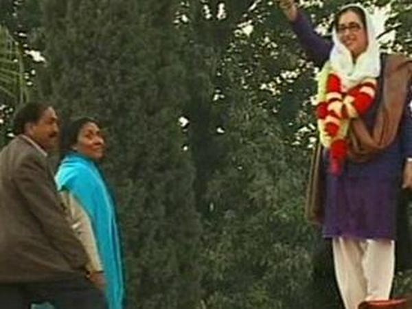 Benazir Bhutto - At the election rally before she was shot