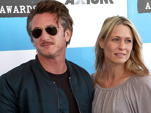 Sean and Robin Wright Penn