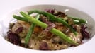Fillet of Turbot with Wild Mushroom Risotto and a Cider and Sage Sauce - Cooked by Dermot O'Neill on RTÉ's 'The Restaurant'.