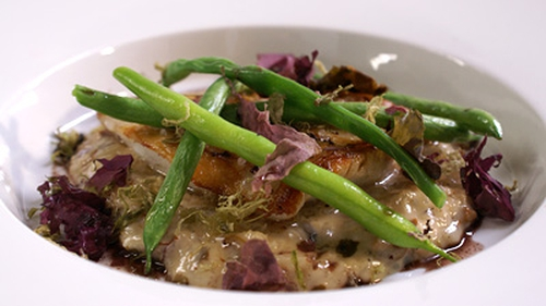 Richard Corrigan's Steamed Turbot with Oyster and Seaweed Tapenade