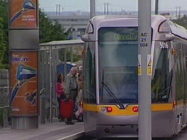 Luas - Man dies after collision with tram