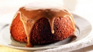 Sticky toffee pudding with toffee sauce - A dessert classic.