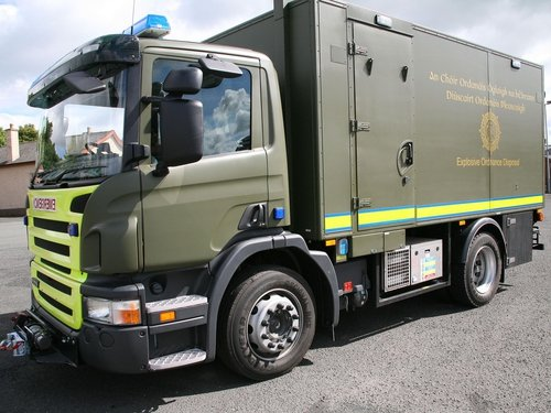 Army Bomb Disposal Team - Attended scene of two separate pipe bomb attacks