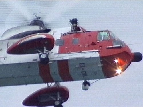 The Coast Guard helicopter was sent to the scene after the alert was raised