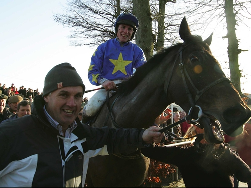 Phillip Enright and Preists Leap after their surprise Thyestes success