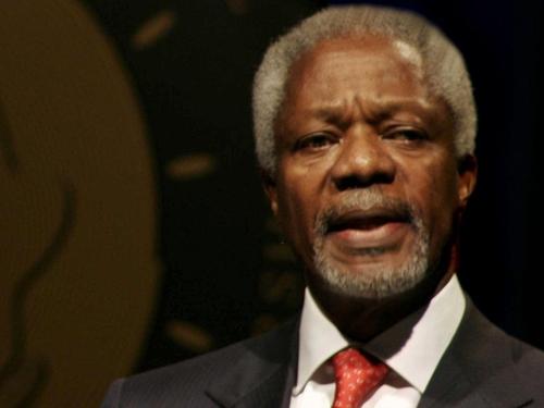 Kofi Annan - Addresses conference on world hunger