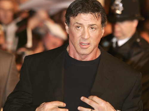 Stallone - In London last night for Rambo premiere