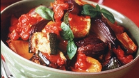Ratatouille - A traditional French Provençal stewed vegetable dish. Easy to make. Usually served as a side dish, but can be served as a meal on its own with pasta, bread or rice.