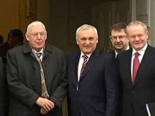 Paisley, Ahern, McGuinness - Attended Council meeting