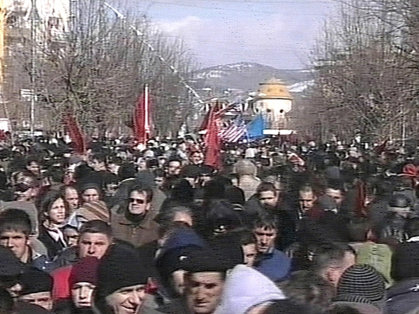 Pristina - Crowds celebrate