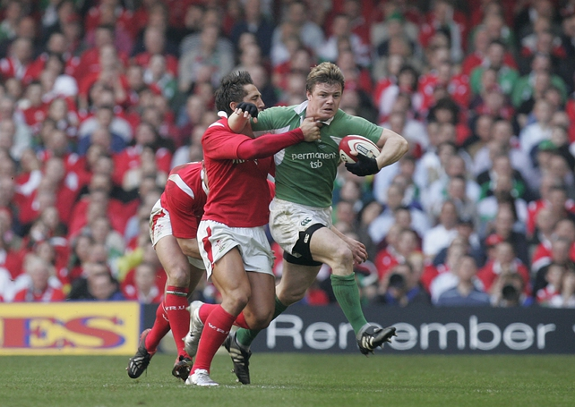 Brian O'Driscoll and Gavin Henson in 2005