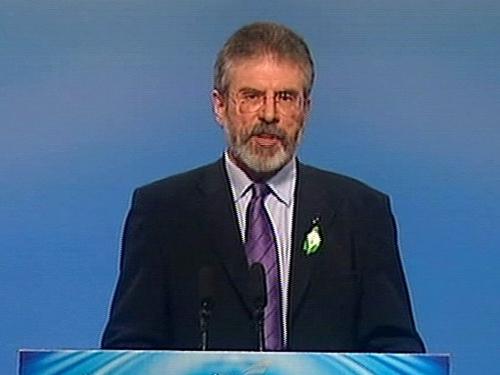 Gerry Adams - SF leader addresses Ard Fheis