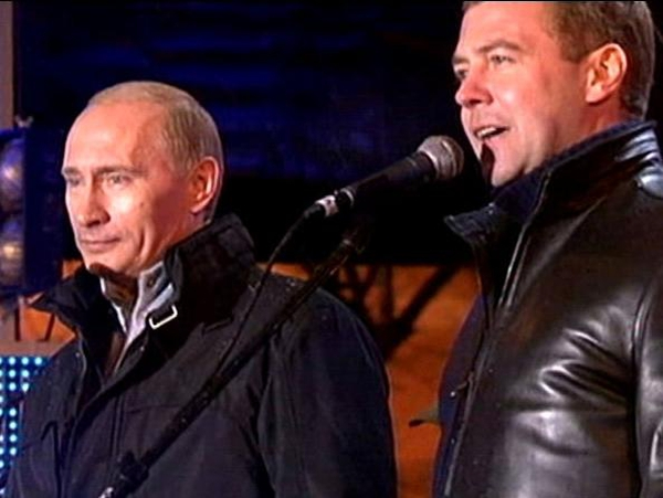 Putin & Medvedev - Current and next Russian presidents