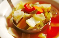 Mixed Vegetable Filler Soup - A straightforward, warming soup, most of the ingredients which you could plant in your garden and have fresh to use during the Autumn.