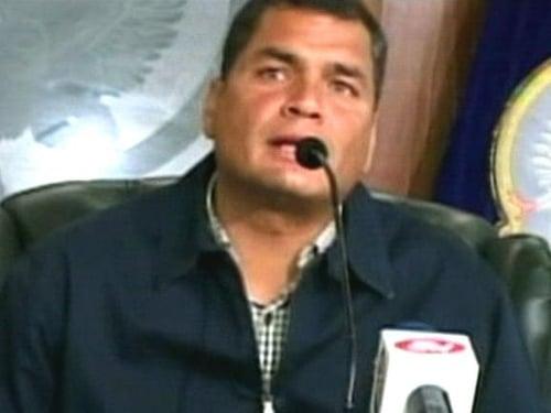 Rafael Correa - Colombia violating Ecuador's sovereignty