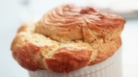 Fresh Goat and Sheep's Cheese Soufflé - This soufflé would make a great starter.