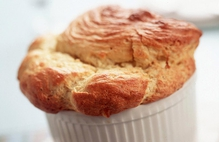 Soufflé with Poached Eggs