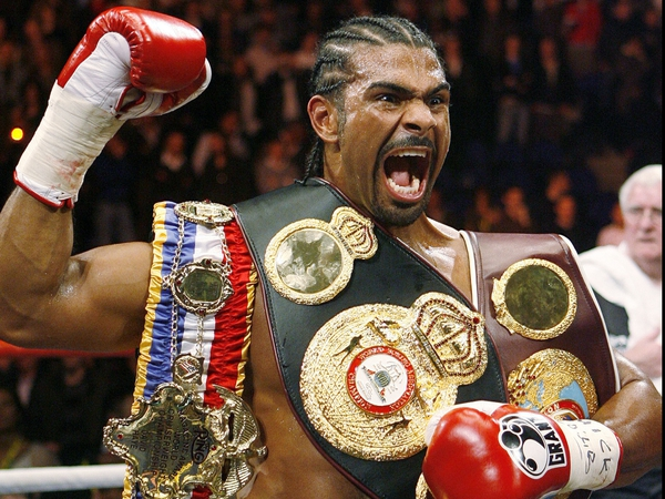 David Haye created a stir by wearing a t-shirt with a caricature of him holding the Klitschkos' heads in his hands