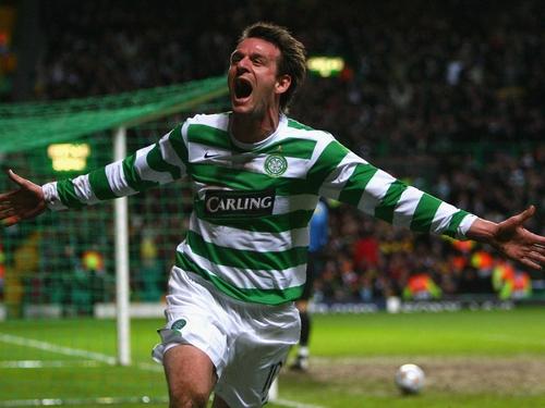 Jan Vennegoor of Hesselink's header sparked wild scenes at Celtic Park