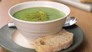 Pea and Ham Soup with Sesame Sticks