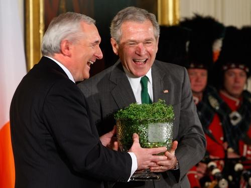 Bush & Ahern - Bowl of shamrock ceremony
