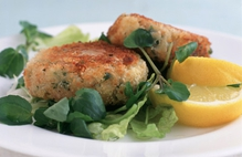 Fragrant Tuna and Crisp Vegetable Fish Cakes with Red Pepper Jam