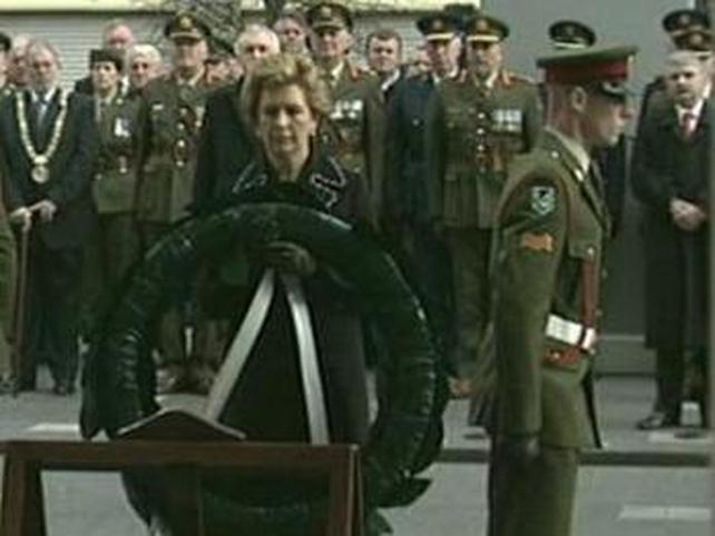 Mary McAleese - Laid wreath