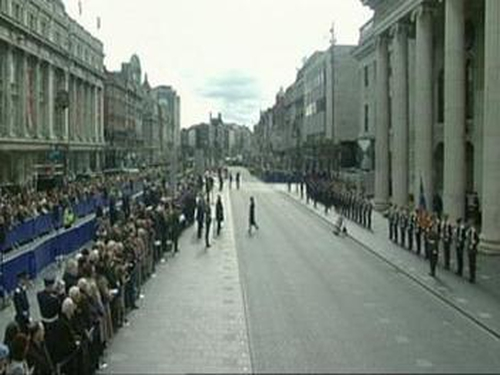 O'Connell Street - Easter Rising ceremony