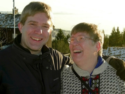Kari and her son Roger