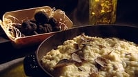 Black Truffle Risotto - The simple traditional dish, served with that most mysterious of luxuries, French black truffle.