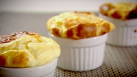 Soufflé au Fromage - Whatever you do, don't open the oven door for a peek while it's cooking!