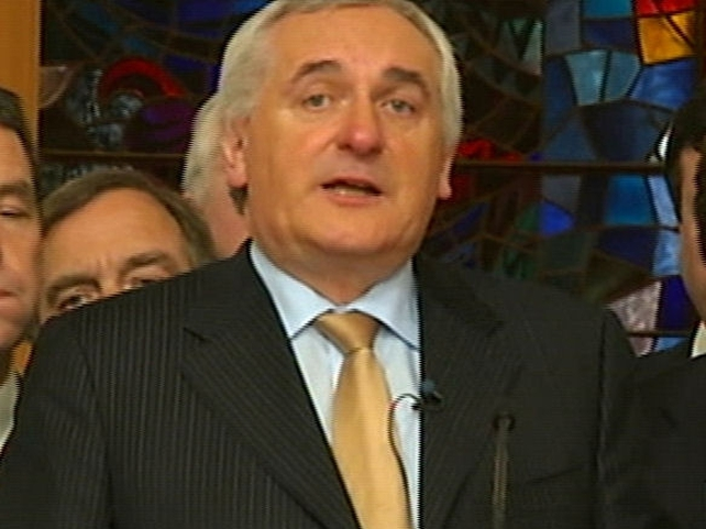 Bertie Ahern - Statement at Govt Buildings