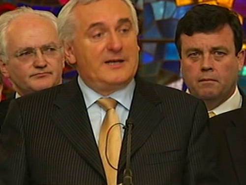 Bertie Ahern - Announces he will tender his resignation 6 May