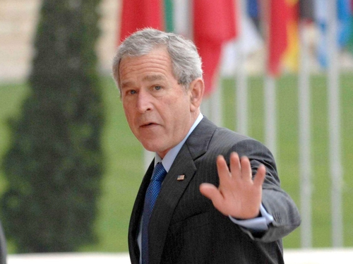 George W Bush - Says there are no plans for permanent bases in Iraq