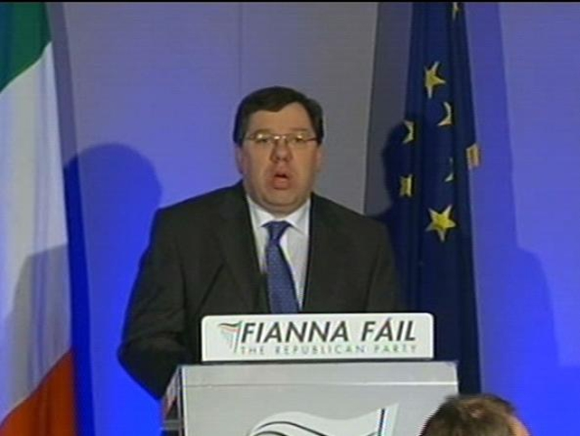 Brian Cowen - Gives first news conference