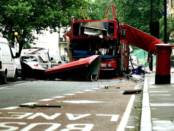 London - No 52 bus blown up in 2005
