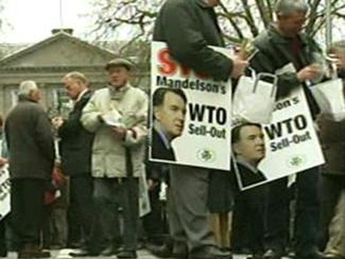 Farming Protests - 10,000 Irish farmers turned out to this April protest against the WTO plan