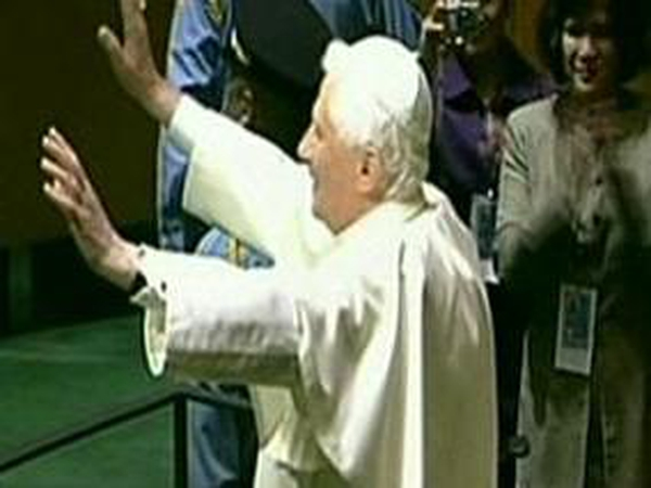 Pope Benedict - Arrives at UN General Assembly