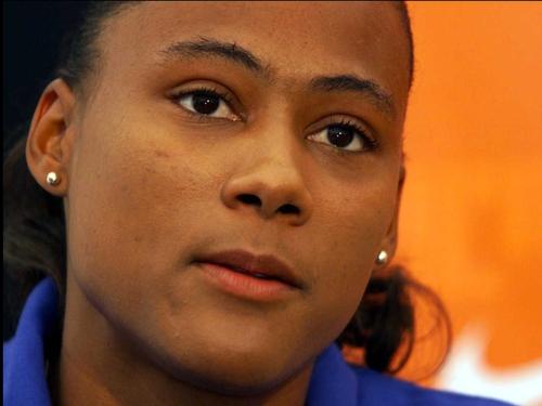 Marion Jones returned to basketball last night