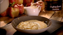 Apple Compote with Crème Anglaise and Burned Butter Sauce
