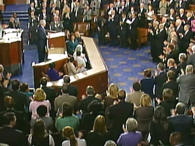 US Congress - Standing ovation