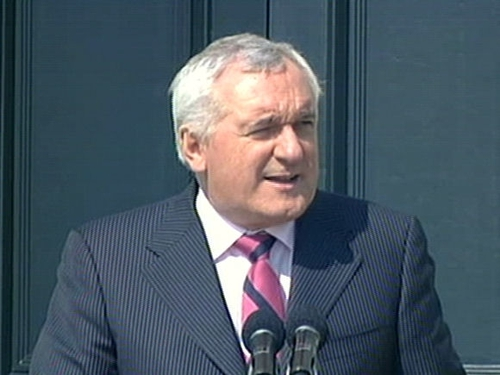 Bertie Ahern - Letter of protest also received from staff
