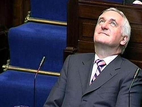Bertie Ahern - Scuffles at college entrance