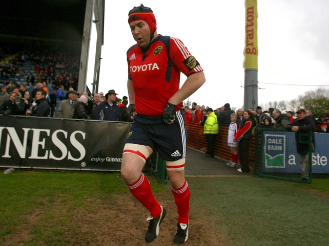 Anthony Foley has played over 200 times for Munster